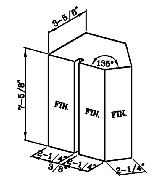 135 Degree External Soldier Corner Modular