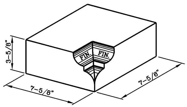 Watertable Rowlock Internal Corner Modular