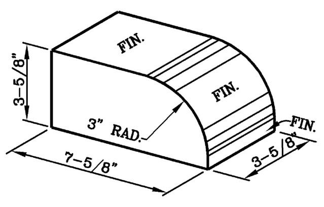 3 Inch Radius Bullnose Rowlock Modular Economo