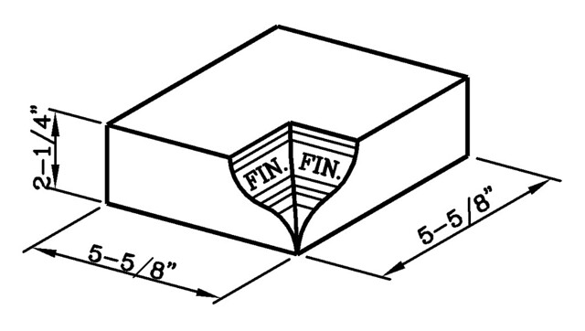 Watertable Stretcher Internal Corner Modular