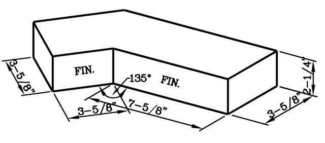 135 Degree Internal Corner Modular