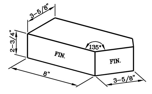 135 Degree External Corner Jumbo Standard