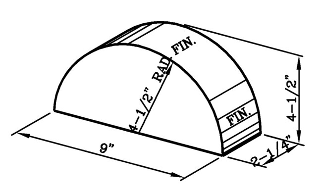 9 Inch Wall Cap Modular