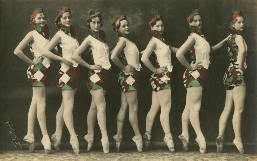 Line of ballet dancers on their toes Brisbane Queensland 1931
