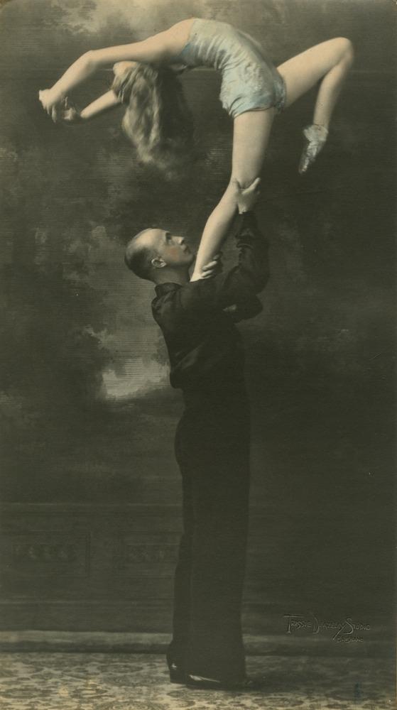 Dancers Billie Spiller and Wally Franklin striking a pose Brisbane Queensland 1931