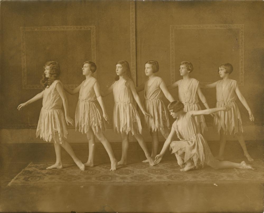 Dance students of Marjorie Hollinshead in Centennial Hall Brisbane Queensland 1927