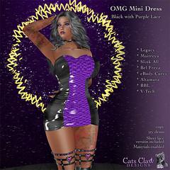 _CCD_ OMG Mini Dress-BlackPurpleLace-AD 512