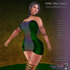 _CCD_ ad OMG Mini Dress-GreenRainbowLace