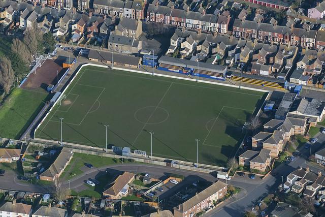 Lowestoft Town Football Club aerial image