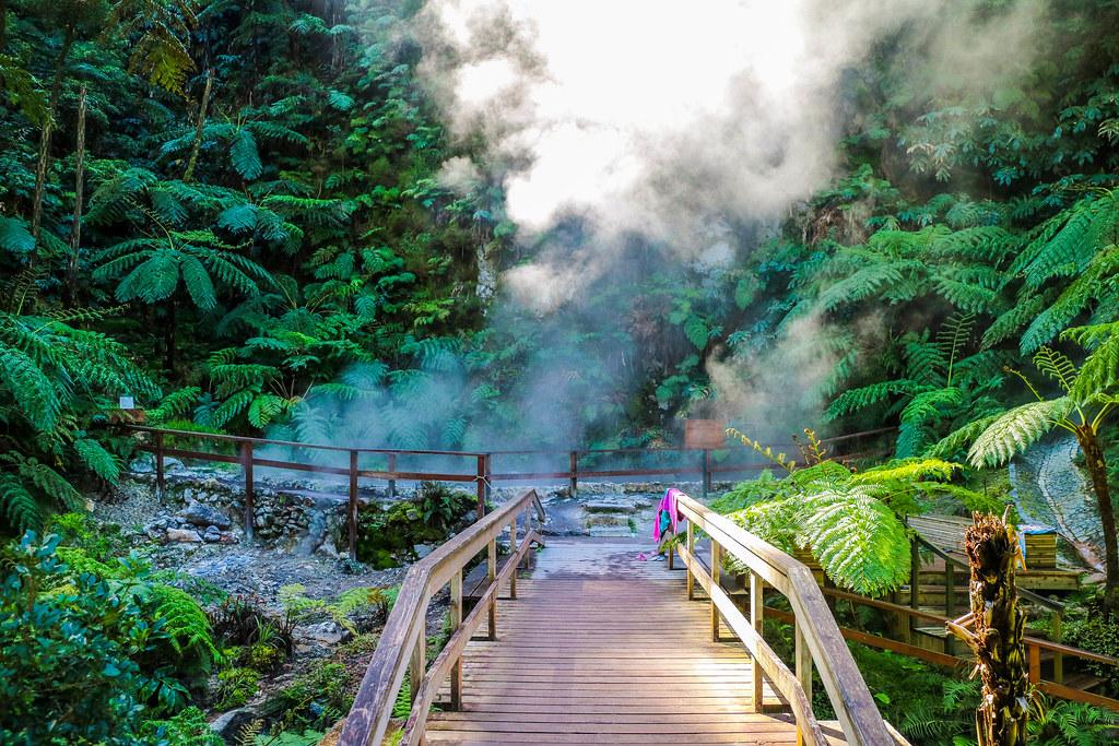 Fumarolas en el Parque Natural de Caldeira Velha