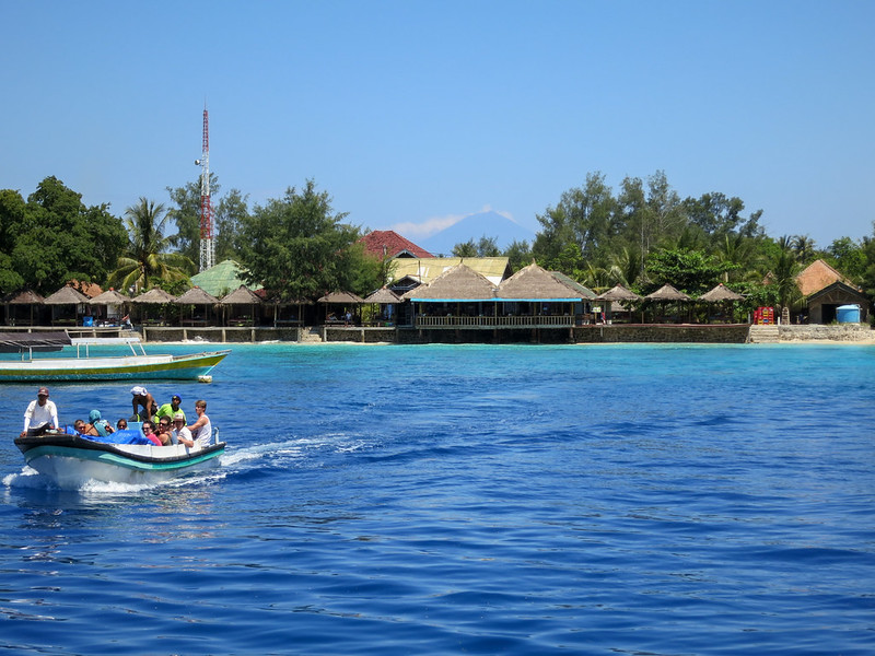 On the way to explore the rest of the Gili Islands