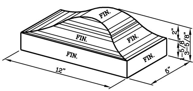 12 Inch Coping Cap Closure Modular