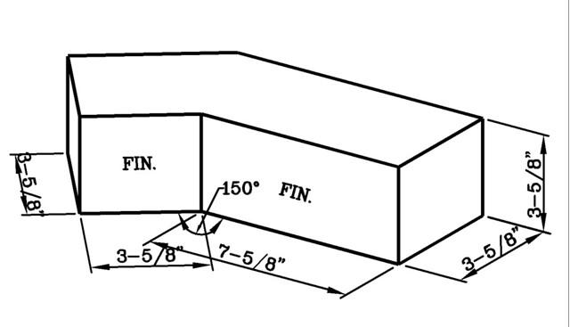 150 Degree Internal Corner Modular Economo