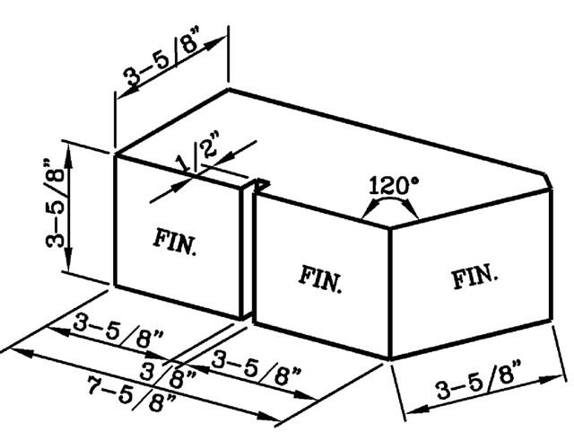 120 Degree External Corner with  False Joint Modular Economo