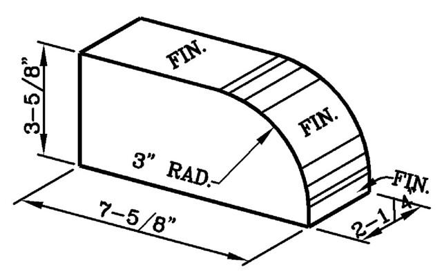 3 Inch Radius Bullnose Rowlock Modular