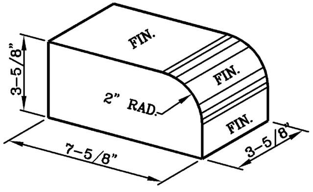 2 Inch Radius Bullnose Rowlock Modular Economo