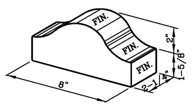 8 Inch Coping Cap Modular