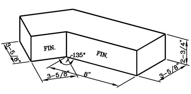 135 Degree Internal Corner Jumbo Standard