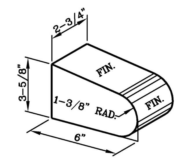 Sloped Bullnose Rowlock Sill Modular