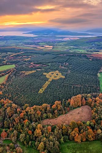 ireland historic history natural gareth wray photography nikon autumn landscape landmark tourist tourism scenic visit sight irish county donegal atlantic sea farm view wild way sunset field dji phantom autumnal sun set shed leaves pine needles 4 p4p uav pro professional drone quadcopter aerial tree liam emery evergreen burt castle grainan hill inch miracle legacy famous site attraction island inishowen celtic forest cross forestry giant sky grass plants