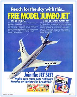 Kellogg's Frosties - Boeing 747 Jumbo Jet  1970