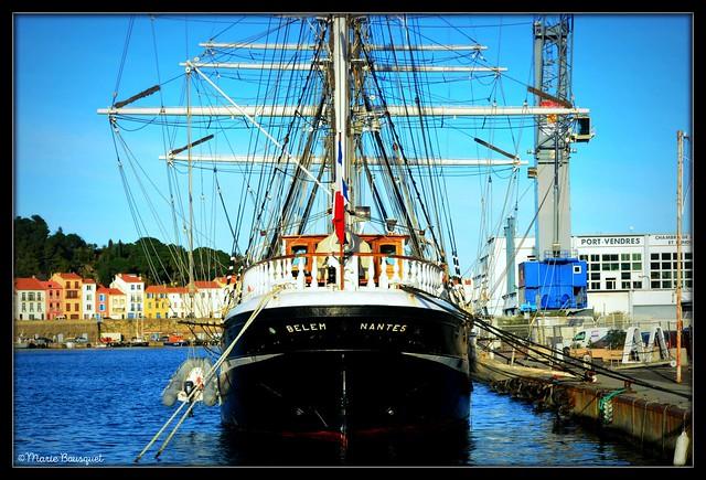 Le majestueux Belem à Port-Vendres