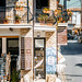 PANO LEFKARA, CYPRUS - JUNE 17, 2018: Lace and Silver shop on the main village street