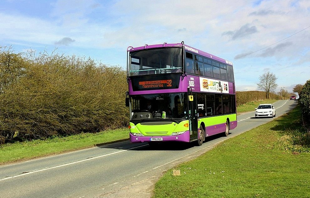 Ipswich buses on Diversion