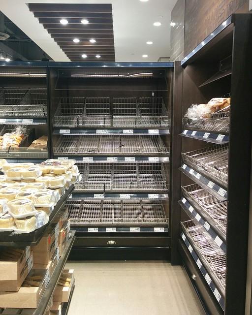 Empty shelves, Metro, College Park (7) #toronto #collegepark #metrogrocery #grocerystore #shopping #coronavirus #latergram