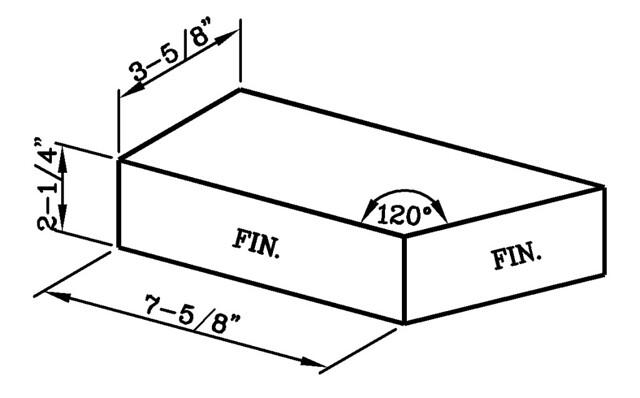 120 Degree External Corner Modular