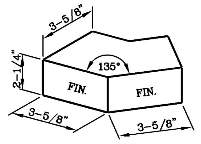 135 Degree External Header Corner Modular