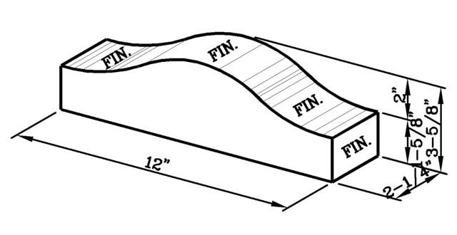 12 Inch Coping Cap Modular