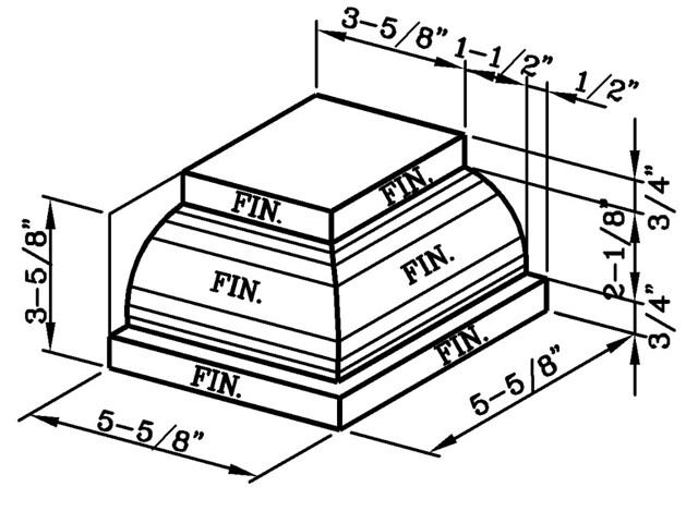 Watertable Rowlock External Corner Modular
