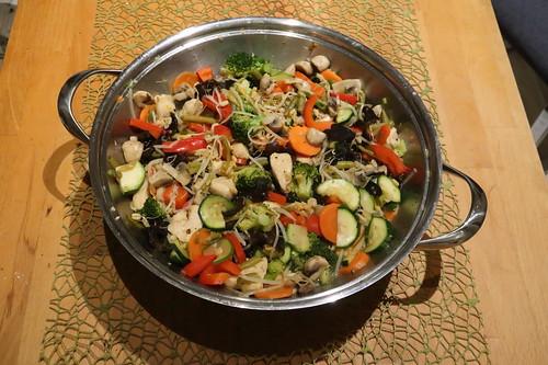 Hähnchen Chop Suey (im Wok)
