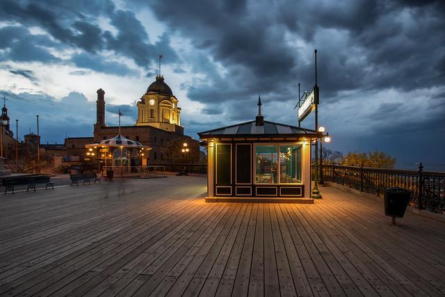 Situé sur la terrasse Dufferin / Quebec