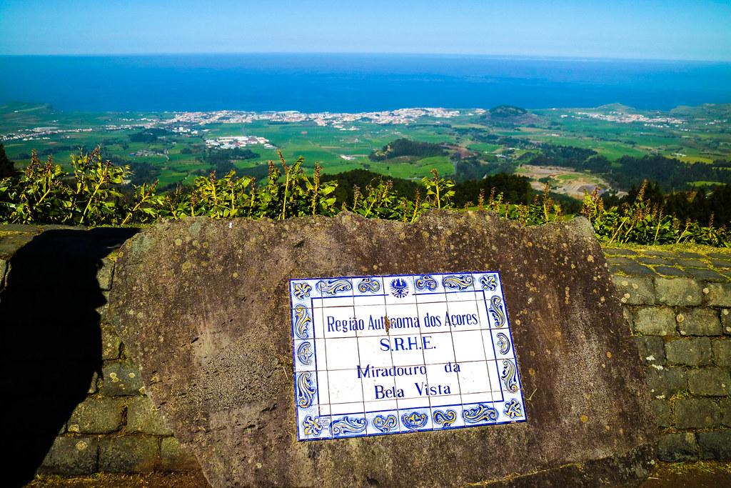 Miradouro Vista Bela en la isla de São Miguel