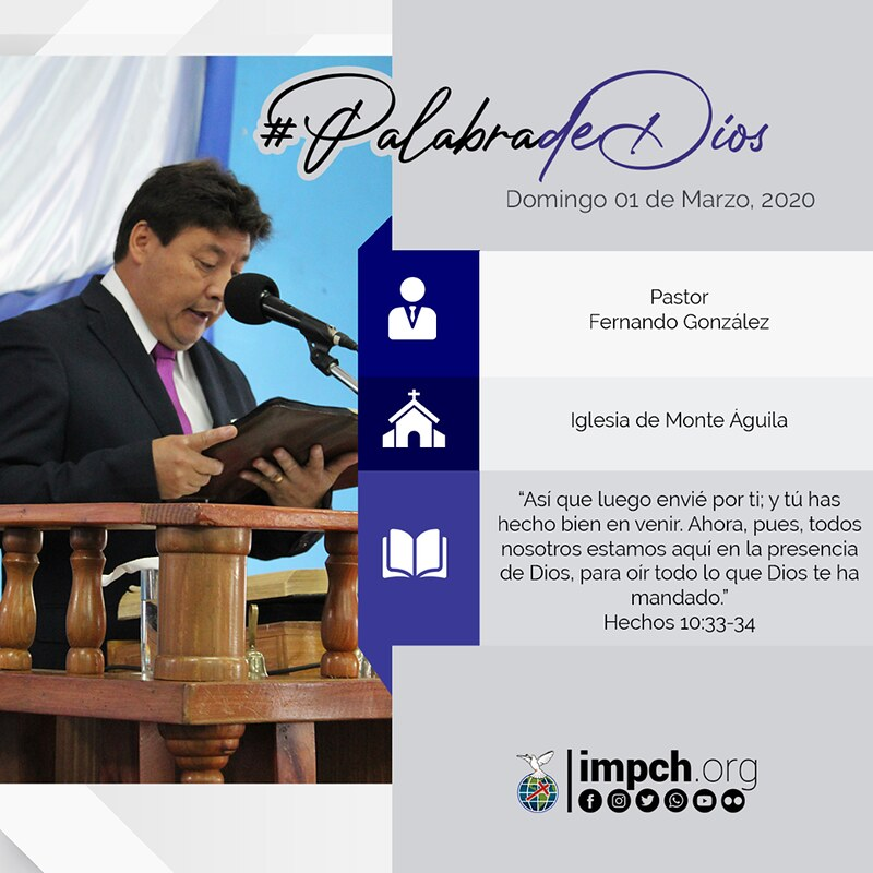 Palabra de Dios | domingo 01 de Marzo 2020