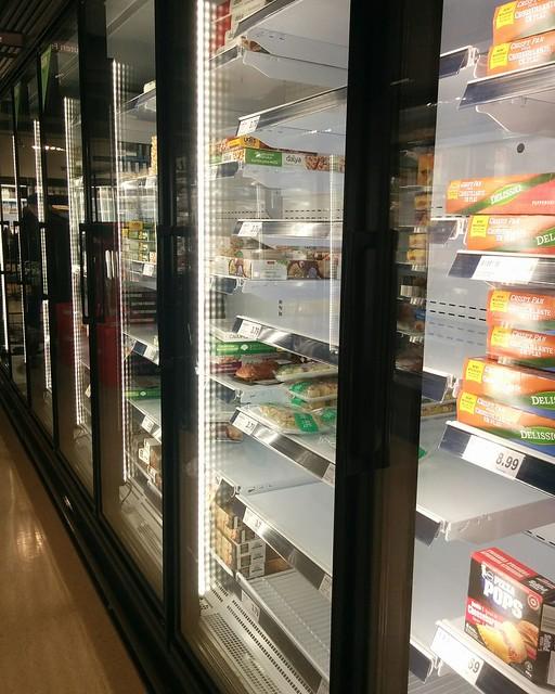 Empty shelves, Metro, College Park (4) #toronto #collegepark #metrogrocery #grocerystore #shopping #coronavirus #latergram