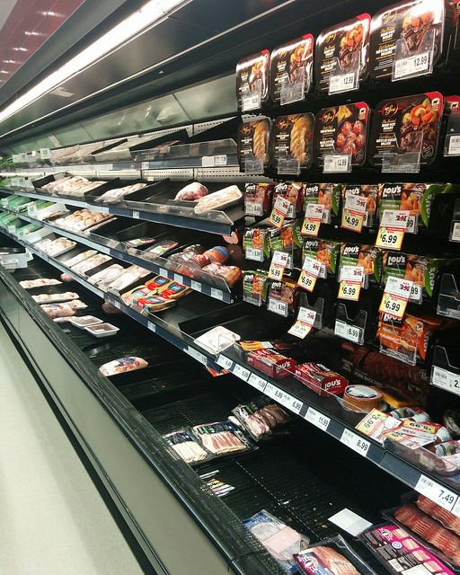 Empty shelves, Metro, College Park (6) #toronto #collegepark #metrogrocery #grocerystore #shopping #coronavirus #latergram