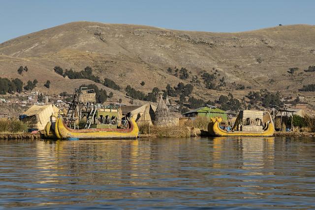 Aldea de los Uros. Lago Titicaca. Perú.