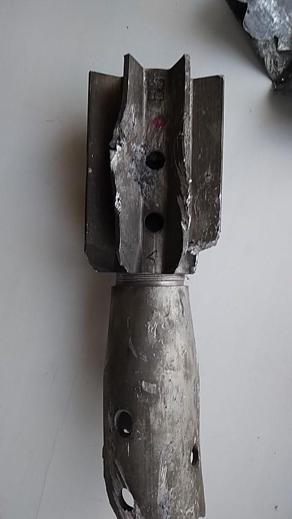 Reste d'obus de mortier