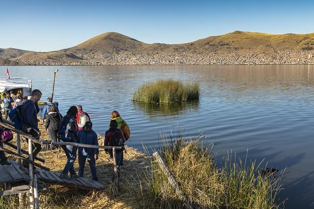 Embarcadero en el lago Titicaca. Perú.