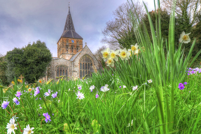 All Saints Church at East Meon, Hampshire