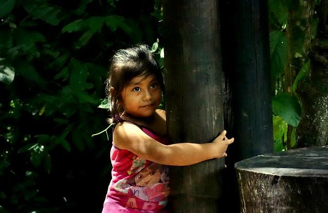 Mexico, Kleines Mädchen bei Palenque , 19610/12485
