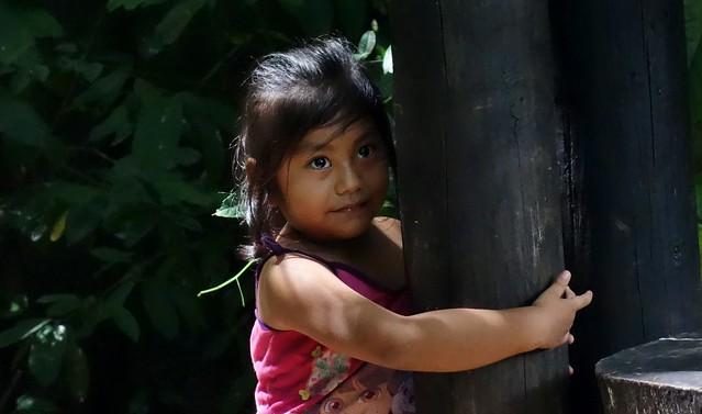 Mexico, Kleines Mädchen bei Palenque , 19611/12486