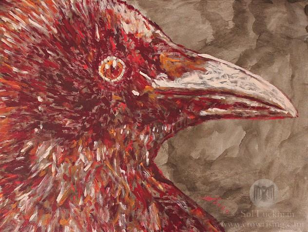 Crow Familiar (original painting)