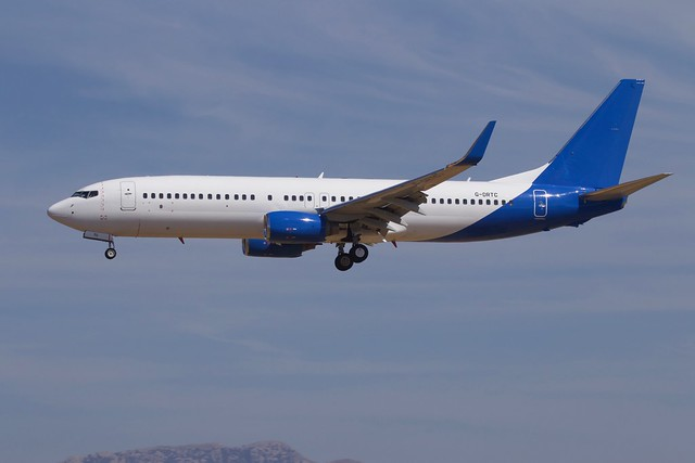 G-DRTC B738 Jet2 holidays in basic blue scheme without titles or logos at PMI 28/7/2018