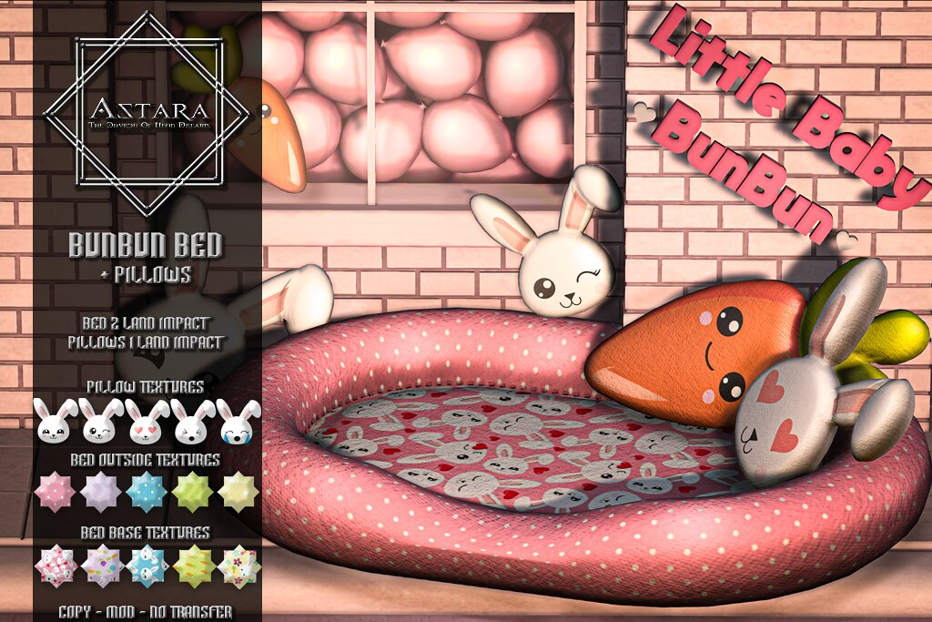 Astara – BunBun Bed + Pillows
