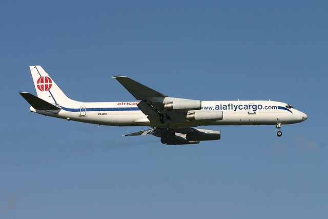 ZS-OSI DC-8-62H(F) African International Cargo Stansted 5.10.07