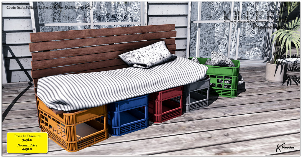 Crate Sofa (PG & ADULT) On Discount @ Tres Chic Starts from 17th March